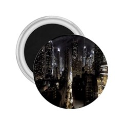 New York United States Of America Night Top View 2.25  Magnets