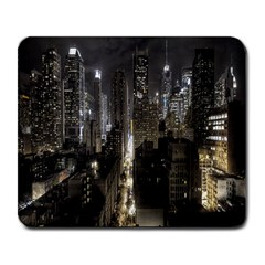 New York United States Of America Night Top View Large Mousepads