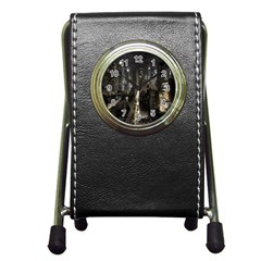 New York United States Of America Night Top View Pen Holder Desk Clocks