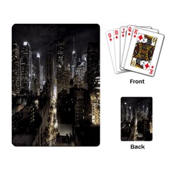 New York United States Of America Night Top View Playing Card