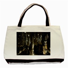 New York United States Of America Night Top View Basic Tote Bag