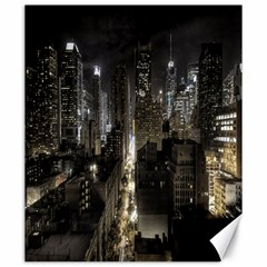 New York United States Of America Night Top View Canvas 20  X 24