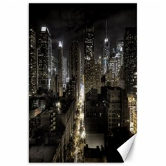 New York United States Of America Night Top View Canvas 20  X 30