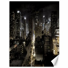 New York United States Of America Night Top View Canvas 36  X 48