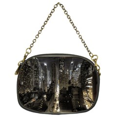 New York United States Of America Night Top View Chain Purses (one Side)