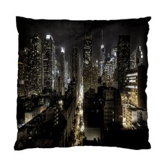 New York United States Of America Night Top View Standard Cushion Case (One Side)