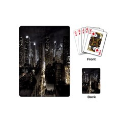 New York United States Of America Night Top View Playing Cards (mini)