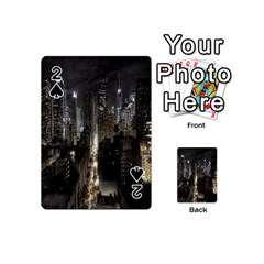 New York United States Of America Night Top View Playing Cards 54 (Mini)