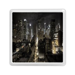 New York United States Of America Night Top View Memory Card Reader (Square)