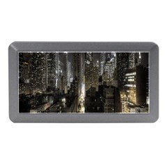 New York United States Of America Night Top View Memory Card Reader (Mini)