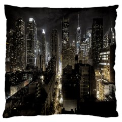 New York United States Of America Night Top View Large Cushion Case (Two Sides)