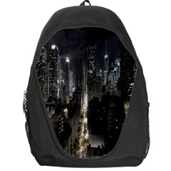 New York United States Of America Night Top View Backpack Bag