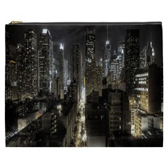 New York United States Of America Night Top View Cosmetic Bag (XXXL)