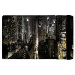 New York United States Of America Night Top View Apple iPad 3/4 Flip Case
