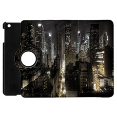 New York United States Of America Night Top View Apple iPad Mini Flip 360 Case