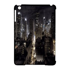 New York United States Of America Night Top View Apple iPad Mini Hardshell Case (Compatible with Smart Cover)