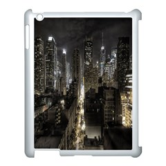 New York United States Of America Night Top View Apple iPad 3/4 Case (White)