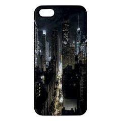 New York United States Of America Night Top View Apple iPhone 5 Premium Hardshell Case