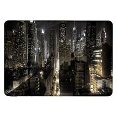 New York United States Of America Night Top View Samsung Galaxy Tab 8 9  P7300 Flip Case
