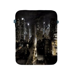 New York United States Of America Night Top View Apple Ipad 2/3/4 Protective Soft Cases
