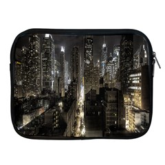 New York United States Of America Night Top View Apple iPad 2/3/4 Zipper Cases