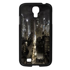 New York United States Of America Night Top View Samsung Galaxy S4 I9500/ I9505 Case (Black)