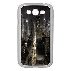 New York United States Of America Night Top View Samsung Galaxy Grand DUOS I9082 Case (White)