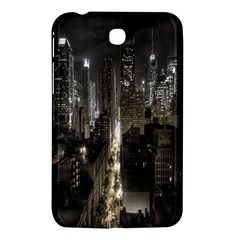 New York United States Of America Night Top View Samsung Galaxy Tab 3 (7 ) P3200 Hardshell Case