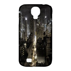 New York United States Of America Night Top View Samsung Galaxy S4 Classic Hardshell Case (PC+Silicone)