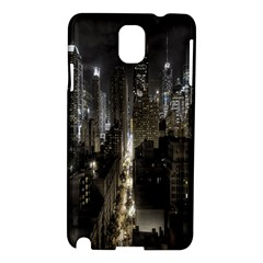 New York United States Of America Night Top View Samsung Galaxy Note 3 N9005 Hardshell Case