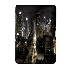 New York United States Of America Night Top View Samsung Galaxy Tab 2 (10.1 ) P5100 Hardshell Case