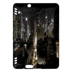 New York United States Of America Night Top View Kindle Fire HDX Hardshell Case