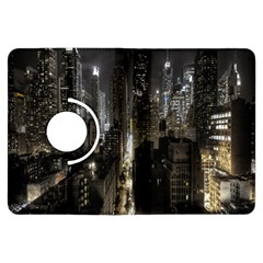 New York United States Of America Night Top View Kindle Fire HDX Flip 360 Case