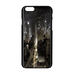 New York United States Of America Night Top View Apple iPhone 6/6S Black Enamel Case