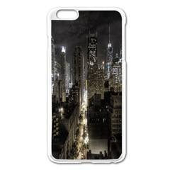 New York United States Of America Night Top View Apple iPhone 6 Plus/6S Plus Enamel White Case