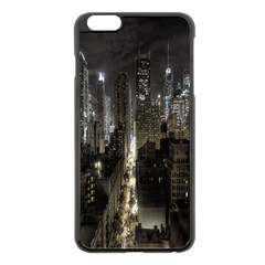 New York United States Of America Night Top View Apple iPhone 6 Plus/6S Plus Black Enamel Case