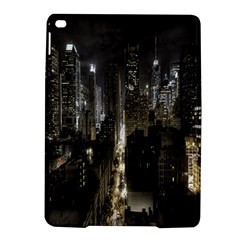 New York United States Of America Night Top View iPad Air 2 Hardshell Cases