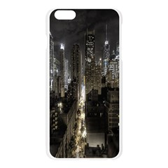 New York United States Of America Night Top View Apple Seamless iPhone 6 Plus/6S Plus Case (Transparent)