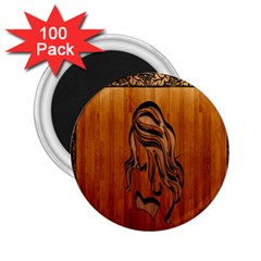 Pattern Shape Wood Background Texture 2.25  Magnets (100 pack)