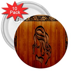Pattern Shape Wood Background Texture 3  Buttons (10 pack)