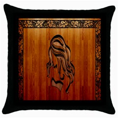 Pattern Shape Wood Background Texture Throw Pillow Case (black)