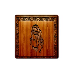 Pattern Shape Wood Background Texture Square Magnet