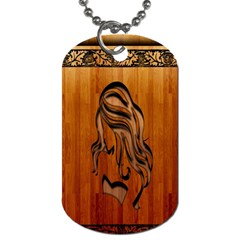 Pattern Shape Wood Background Texture Dog Tag (Two Sides)