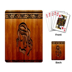 Pattern Shape Wood Background Texture Playing Card