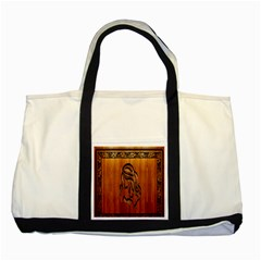 Pattern Shape Wood Background Texture Two Tone Tote Bag
