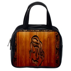 Pattern Shape Wood Background Texture Classic Handbags (one Side)