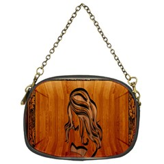 Pattern Shape Wood Background Texture Chain Purses (one Side)