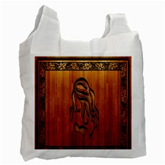 Pattern Shape Wood Background Texture Recycle Bag (one Side)