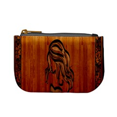 Pattern Shape Wood Background Texture Mini Coin Purses