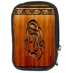 Pattern Shape Wood Background Texture Compact Camera Cases
